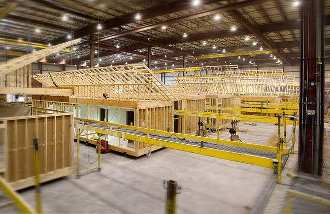 модульный дом собирают на специальных заводах
